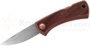 EKA Swede 88 Folding Knife 2.95 inch Sandvik 12C27 Satin Blade, Walnut Wood Handles, Nylon Sheath