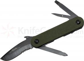 Emerson EDC-2 Multi-Tool by Multitasker, 2.7 inch Combo Blade, OD Green G10 Handles