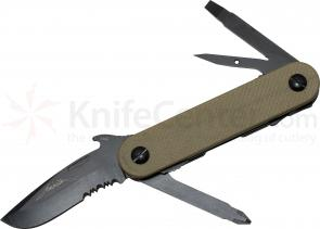 Emerson EDC-2 Multi-Tool by Multitasker, 2.7 inch Combo Blade, Tan G10 Handles