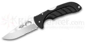 Emerson Endeavor Hard Wear Series Folding Knife 3.4 inch Satin Plain Blade, Zytel Handles