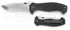 Emerson Mini CQC-15 Folding Knife 3.5 inch Stonewash Plain Blade, G10 Handles