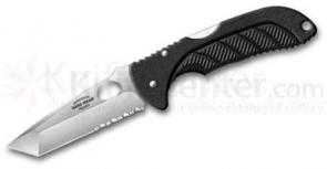 Emerson Reliant Hard Wear Series Folding Knife 3.4 inch Satin Combo Tanto Blade, Zytel Handles