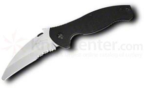 Emerson SARK Folding Rescue Knife 4.1 inch Satin Combo Blunt Tip Blade, G10 Handles