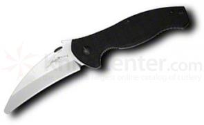 Emerson SARK Folding Rescue Knife 4.1 inch Satin Plain Blunt Tip Blade, G10 Handles