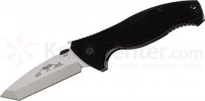 Emerson SOCFK-SF Folding Knife 3.375 inch Stonewash Plain Tanto Blade with Wave, G10 Handles