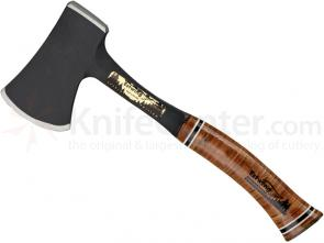 Estwing Black Coated Sportsman Axe 12-3/4 inch Overall, Stacked Leather Handle, Nylon Sheath