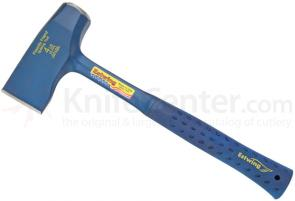 Estwing Fireside Friend Axe and Splitting Tool 14-1/4 inch Overall, Blue Rubber Handle