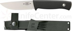 Fallkniven F1 Swedish Pilot Survival Knife 3.8 inch Satin 3G Blade, Zytel Sheath