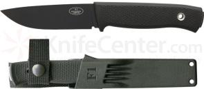 Fallkniven F1 Swedish Pilot Survival Knife 3.8 inch Black VG10 Blade, Zytel Sheath