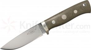 Fallkniven F1L3Ggm Survival Knife Fixed 3.9 inch 3G Blade, Micarta Handles, Leather Sheath