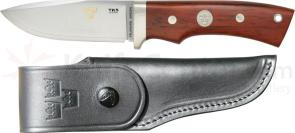 Fallkniven TK5 Tre Kronor de Luxe Hunter Fixed 3.15 inch Blade, Cocobolo Handles, Leather Sheath