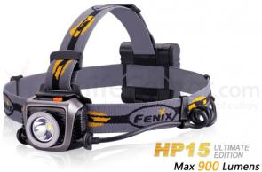 Fenix HP15 LED Headlamp Ultimate Edition, Gray, 900 Max Lumens