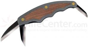 Flexcut Tri-Jack Pro Carving Knife 3 Different Style Blades, Aluminum Handle w/ Cherry Wood Inlays