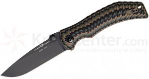 Fox Wilson Combat Extreme Light Carry Folding 3.5 inch Black ELMAX Blade, Multi Cam Starburst G10 Handles