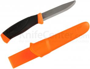 Morakniv Mora of Sweden Orange Rescue Companion Knife 4.1 inch Stainless Steel Blade, Black Rubber Handle
