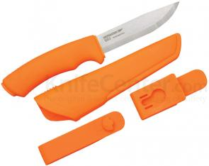 Morakniv Mora of Sweden Orange Bushcraft Knife 4.3 inch Stainless Steel Blade, Orange Rubber Handle