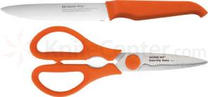 Furi Rachael Ray Gusto-Grip Basics Line 5 inch Serrated Utility Knife and Shears