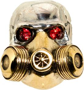 GD Skulls USA SP7-A Gas Mask Skull with Bejeweled Eyes