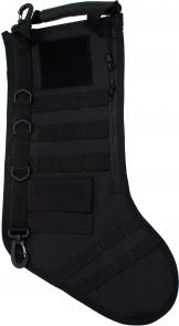 GenPro RuckUp Black Tactical Christmas Stocking with MOLLE Attachment