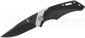 Gerber Contrast Folding Knife 3 inch Black Plain Blade, Black G10 and Stainless Steel Handles
