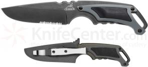 Gerber Basic Camping Knife Fixed 3.4 inch Combo Blade, TacHide Inserts on Handle