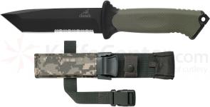 Gerber Prodigy Tanto Fixed Combat Knife 4.8 inch Combo Blade, TacHide Handle
