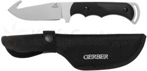 Gerber Freeman Guide Fixed Hunting Knife 4 inch Plain Blade, Gut Hook, TacHide Handle