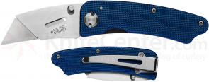 Gerber Edge Utility Folding Knife 1.1 inch Replaceable Blade, Blue Aluminum Handles