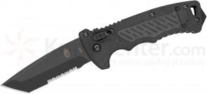 Gerber DMF AUTO 3.5 inch S30V Combo Tanto Blade, G10 Handles (30-000190N)
