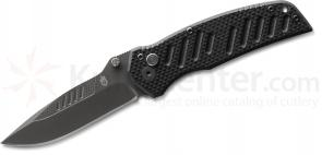 Gerber Mini Swagger AO Assisted 2.75 inch Black Drop Point Plain Blade, G10 Handles