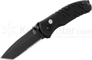 Gerber Propel AO Assisted 3.51 inch Black Tanto Combo Blade, G10 Handles