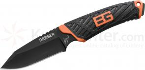 Gerber Bear Grylls Compact Fixed 3.4 inch Blade, Rubber Handle