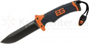 Gerber 31-001063 Bear Grylls Ultimate Survival Knife 4.8 inch Plain Blade, Rubber Grip Handles