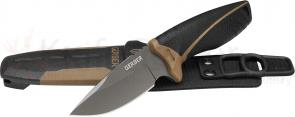 Gerber 31-001092 Myth Drop Point Pro Fixed 3.75 inch Blade, Plastic Sheath, Carbide Sharpener