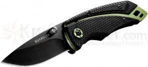 Gerber Guardian 31-001368 K3 2.5 inch Tactical Clip Point Folder, Zytel Handles