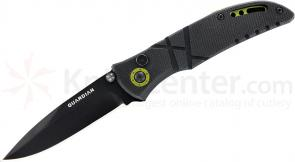 Gerber Guardian J1 Assisted Folding Knife 3 inch Black Plain Blade, G10 Handles