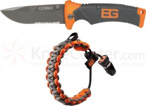 Gerber 31-002416 Bear Grylls Folding Sheath Knife and Paracord Bracelet Combo Set