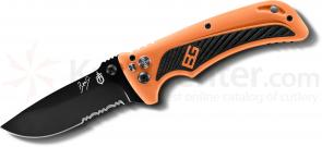 Gerber 31-002530 Bear Grylls Survival AO Assisted 3 inch Combo Blade, Rubber Grip Handles