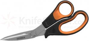 Gerber Vital Take-a-Part Shears, 8 inch Overall, Orange Rubberized Handles
