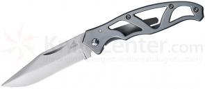 Gerber 22-08485 Paraframe Mini Folding Knife 2.22 inch Plain Blade, Stainless Steel Handles
