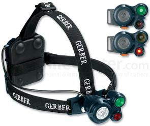 Gerber Meridian White/Green/Red LED Headlight - Special Ops Gray