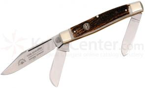 German Eye Stockman Stag Handle 4-1/4 inch Closed Stainless Steel Blade