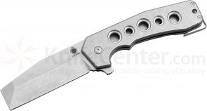 Graham Knives GMT Mid-tech Razel Flipper 3.375 inch CPM-154 Stonewashed Blade and Titanium Handles