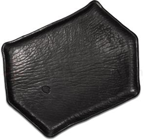 Greg Everett Handcrafted Custom Leather Valet Tray 11.625 inch X 8.25 inch Black and Turquoise Finish