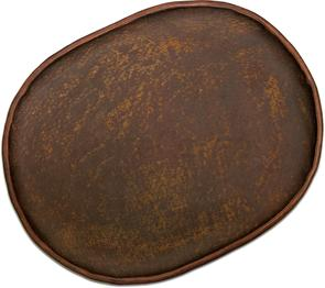 Greg Everett Handcrafted Custom Leather Valet Tray 11 inch X 8 inch Rustic Brown Finish