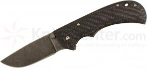 Anthony Griffin Custom Really Big Folder 4 inch Acid Washed A2 Blade, Carbon Friber and Titanium Handles