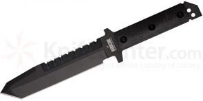Hardcore Hardware Big Field Knife 6.7 inch Black D2 Sawback Blade, G10 Handles, Cordura MOLLE Sheath