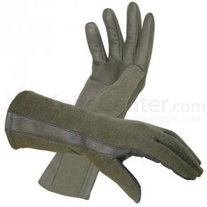 Hatch BNG220 Flight Gloves with Nomex, Foliage Green, M