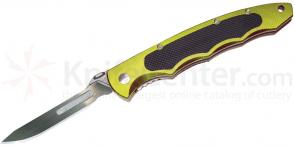 Havalon Piranta Torch Skinning Folding Knife w/sheath 2-3/4 inch #60A Replaceable Blade, Lime Green Aluminum Handles