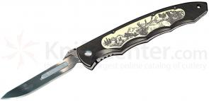 Havalon Piranta-Elk Skinning Knife w/ Sheath, #60XT Replaceable Blades